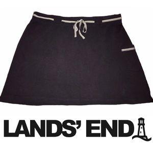 Lands End Athletic Stretch Black Skirt - Sz 14/16